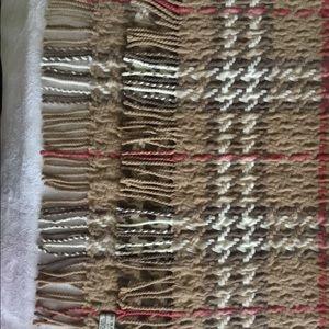 Vintage Burberry Scarf Merino Wool Cashmere Blend